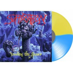suffocation breeding the spawn blue/yellow split lp