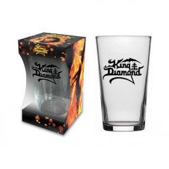 king diamond logo beer glass