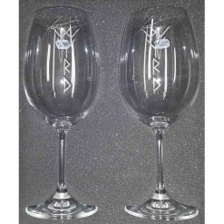 logo whine glasses