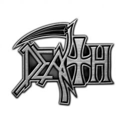 death logo metal pin badge