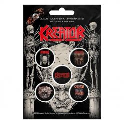 kreator skull and skeletons button badge pack