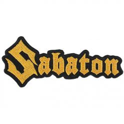 sabaton yellow logo cut out patch