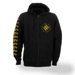 machine head diamond zip front