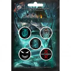 disturbed evolution button badge pack