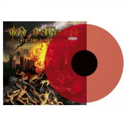 god dethroned into the lungs of hell transparent red lp