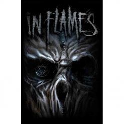 in flames ghost flag