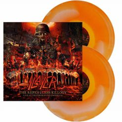 slayer the repentless killogy orange white ink spot double vinyl