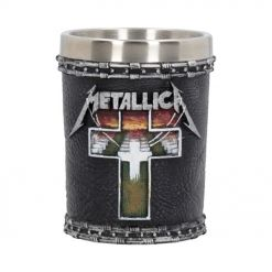 metallica master of puppets shot glass