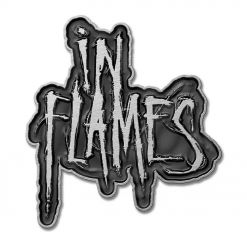 in flames logo pin