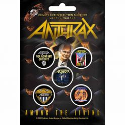 anthrax among the living button badge pack
