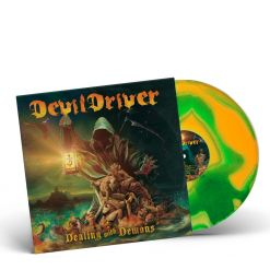 devildriver dealing with demons 1 orange green swirl vinyl