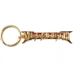 megadeth gold logo key ring