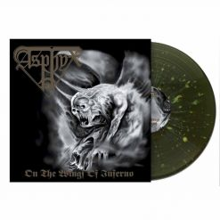 asphyx on the wings of the call green white mustard splatter vinyl