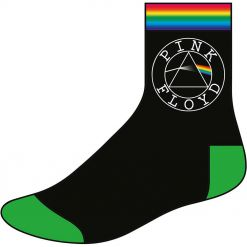 pink floyd circle logo socks