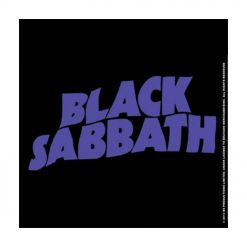 black sabbath wavy logo coaster