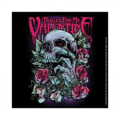 bullet for my valentine skull red eyes coaster