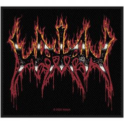 watain flaming logo patch
