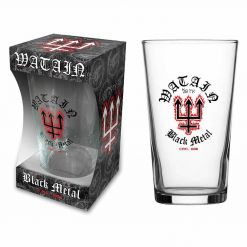 watain est 1998 beer glass
