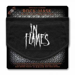 in flames logo face mask