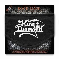 king diamond logo face mask