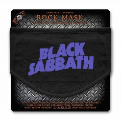 black sabbath purple logo face mask