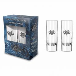 dark funeral logo shot glasses