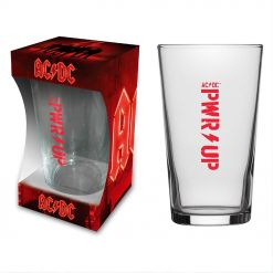 acdc pwr up beer glass
