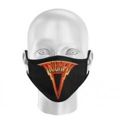 triumph lightning logo face mask