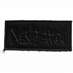 destruction logo leather patch