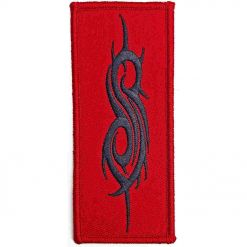 slipknot black tribal sigil woven patch