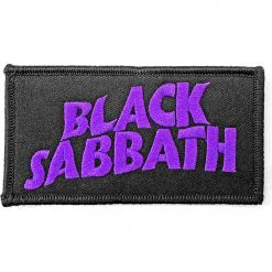 black sabbath wavy logo patch