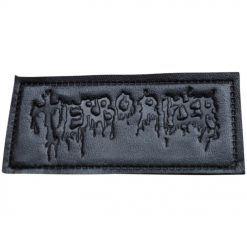 terrorizer logo leather patch