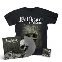 """wolfheart skull soldiers silver 12 """" Mini LP + Patch + T Shirt"""