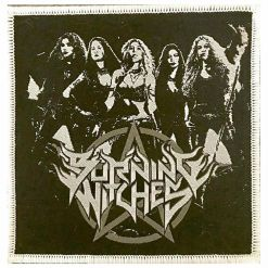 burning witches band patch