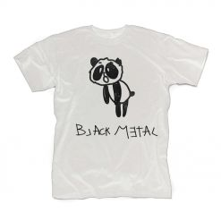 HEAVY METAL HAPPINESS - Black Metal Panda / WHITE T-Shirt