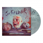 Six Feet Under Nightmares of the Decomposed GREY BLUE Marbled Vinyl