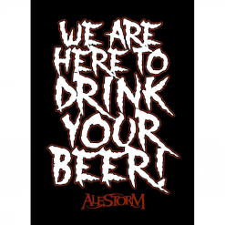 alestorm we are here to drink your beer patch