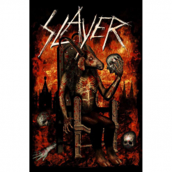 slayer - devil on throne - flagge - napalm records