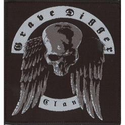 grave digger skull patch