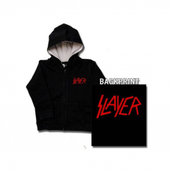 Slayer Red Logo Kids Hoodie front and back