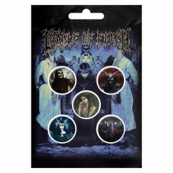 cradle of filth cryptoriana button badge pack