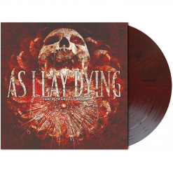 as i lay dying - the powerless rise - opaque-dark-red-black marbled lp
