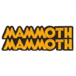 57990 mammoth mammoth logo cut out patch