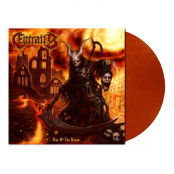 entrails rise of the reaper clear orange marbled lp