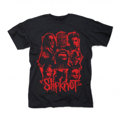 58391-1 slipknot we are not your kind red patch t-shirt