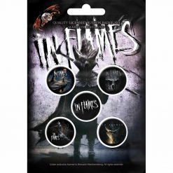 in flames the mask button badge pack