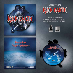 iced earth reaping stone shape picture vinyl
