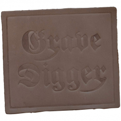 grave digger logo leather patch