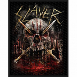 slayer skull and swords patch