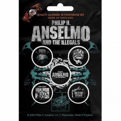 phil anselmo and the illegals brain button back